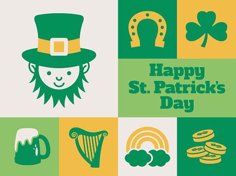 Modern St. Patrick's Day minimal greeting card