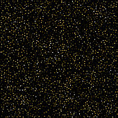Modern stars of gold foil on a black background.