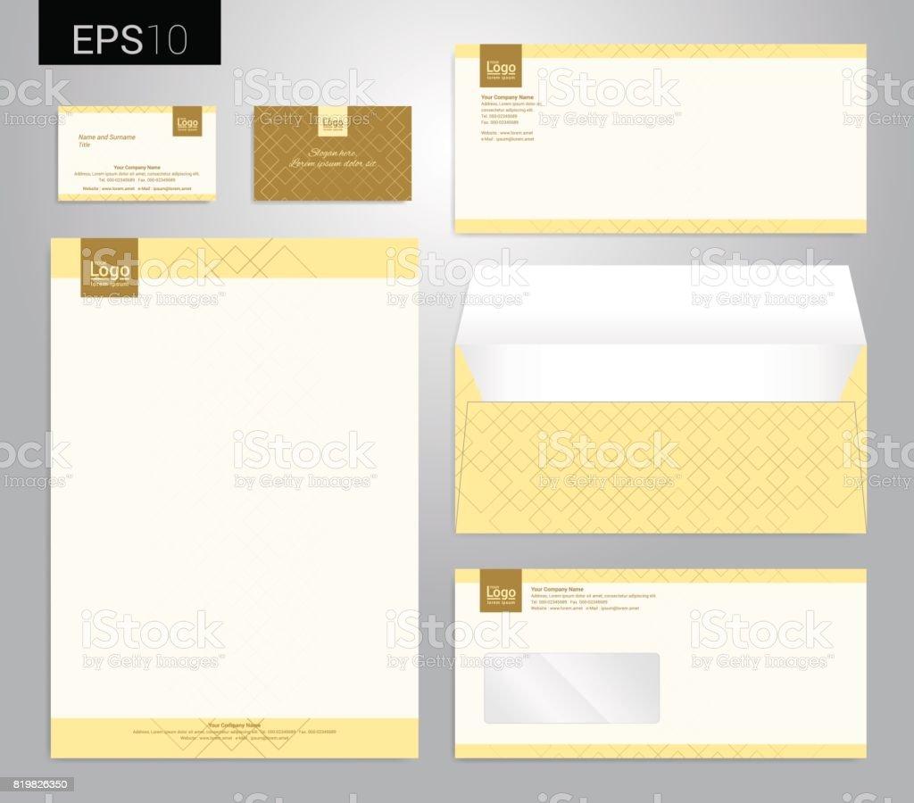 Papeterie Moderne Mis En Format Vectoriel Carte De Visite Papier A Tete