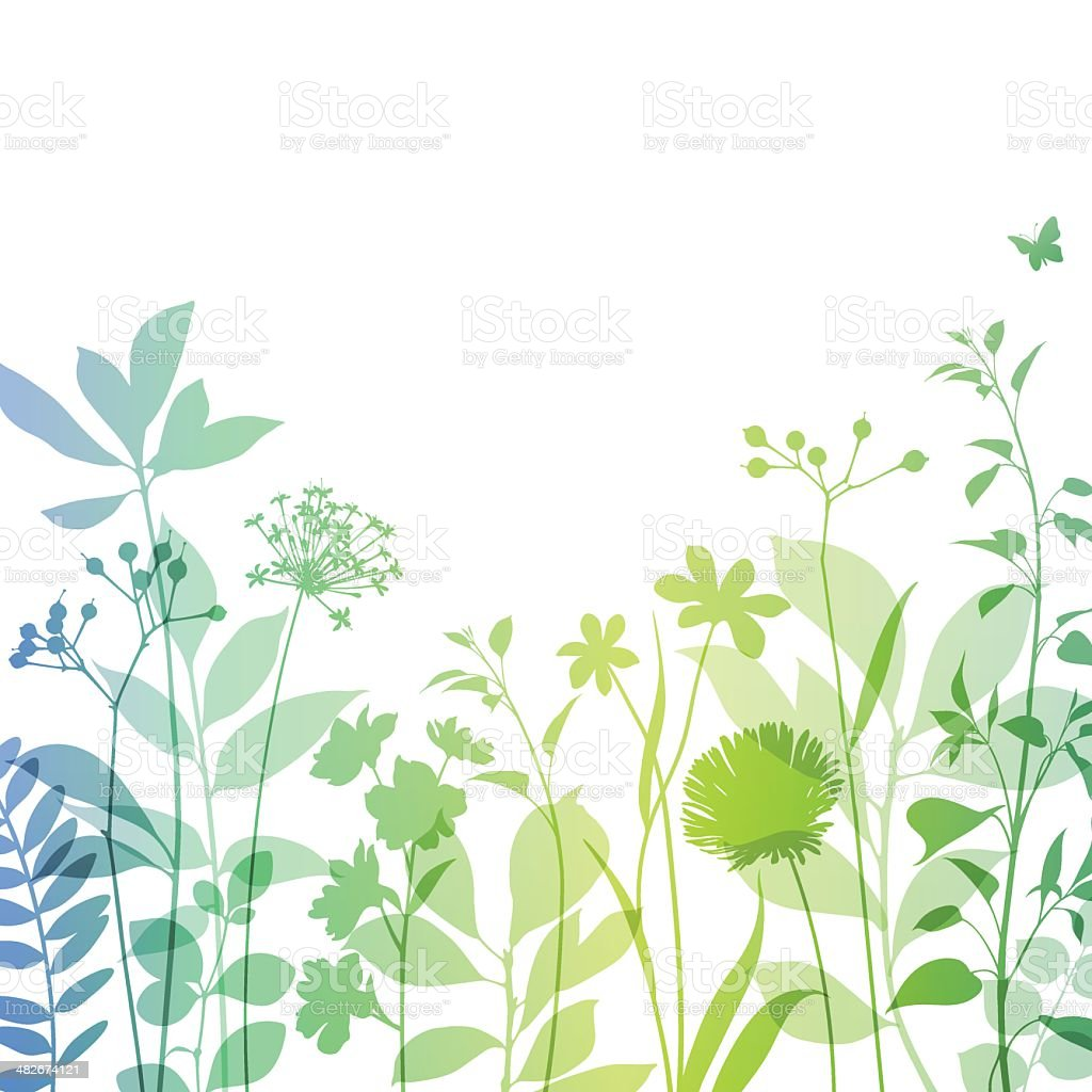 Modern Stems with Copyspace vector art illustration