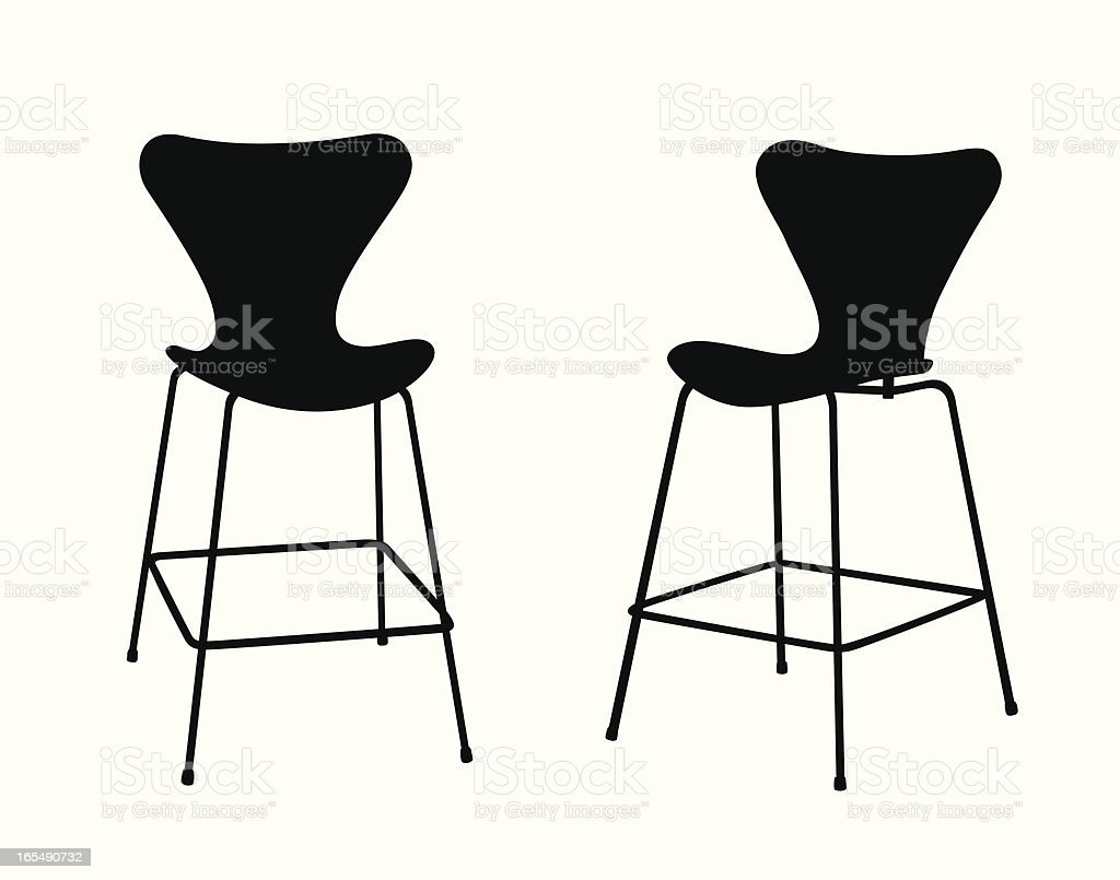 Modern Stool Vector Silhouette royalty-free modern stool vector silhouette stock vector art & more images of chair