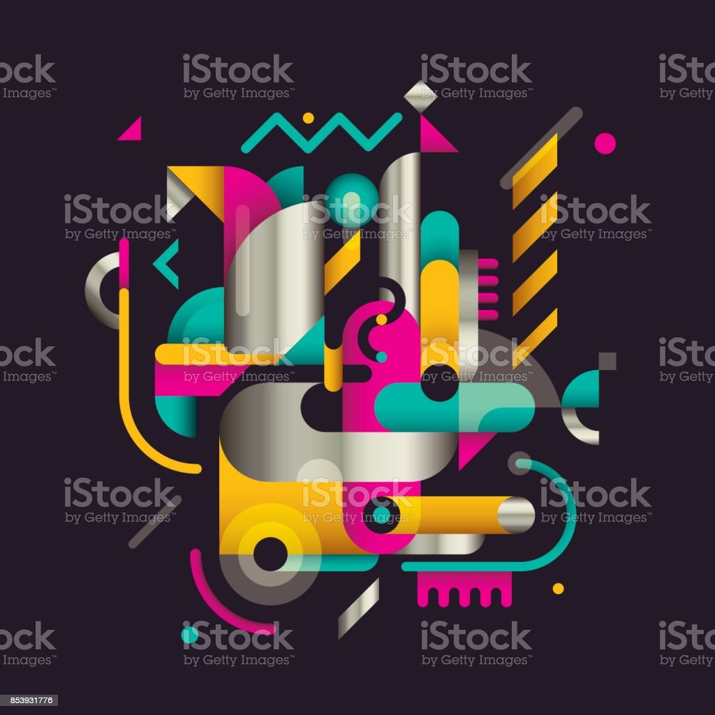 Modern style abstraction. royalty-free modern style abstraction stock vector art & more images of abstract