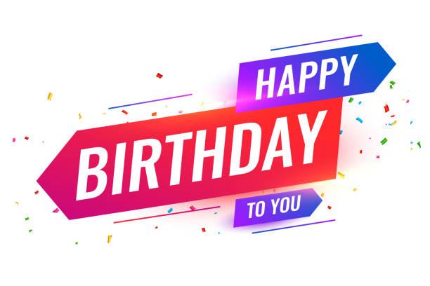 modern style happy birthday to you background design modern style happy birthday to you background design happy birthday stock illustrations