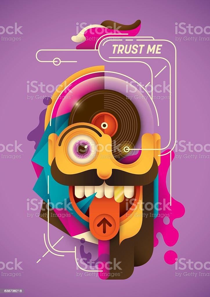 Modern style illustration. vector art illustration
