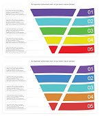 Modern style infographic funnel vector illustration can be used for layout diagram business step options banner web design