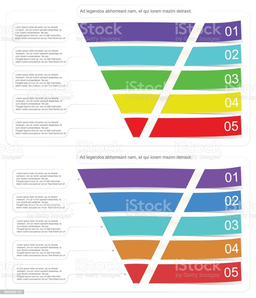 Modern style infographic funnel vector illustration can be used for layout diagram business step options banner web design. vector art illustration