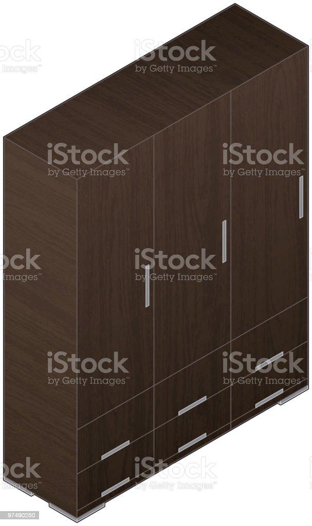 Modern Style Large Wooden Wardrobe (aluminum finish) royalty-free modern style large wooden wardrobe stock vector art & more images of aluminum