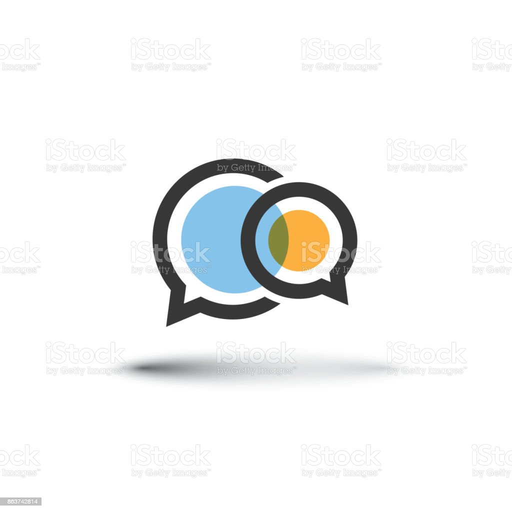 Modernen Stil Rede oder eine Gedankenblase – Vektorgrafik