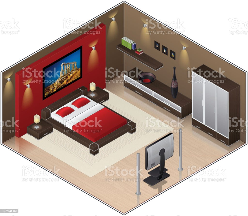 Modern Style wooden floor Large Bedroom royalty-free modern style wooden floor large bedroom stock vector art & more images of aluminum