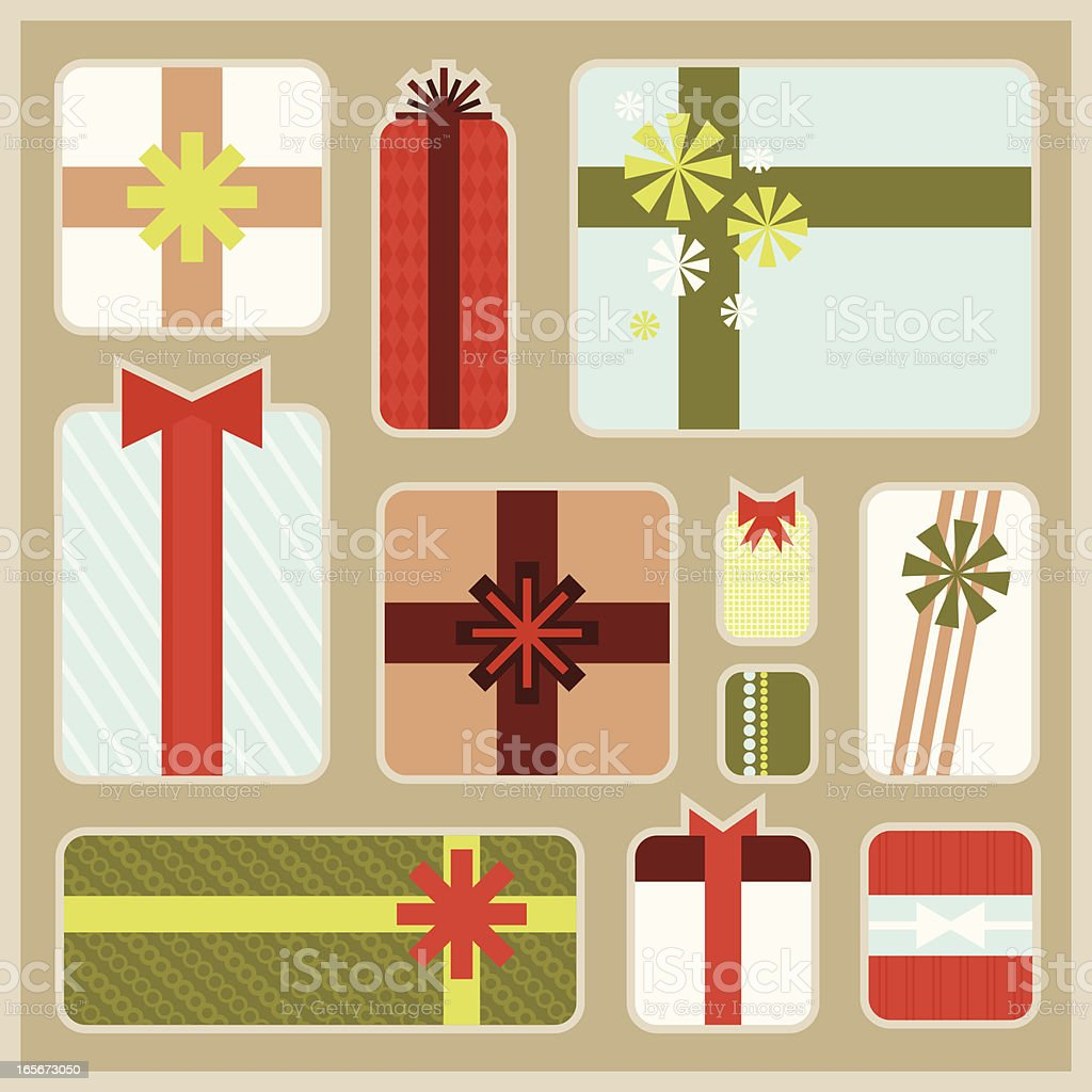 Modern Styled Gifts royalty-free stock vector art