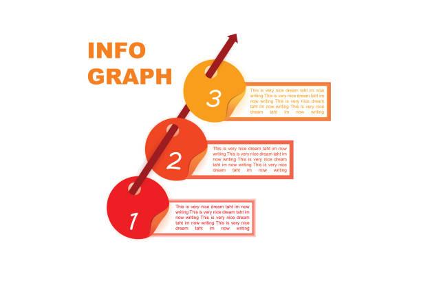 Modern stylish 3d looking vector chart info graph vector art illustration