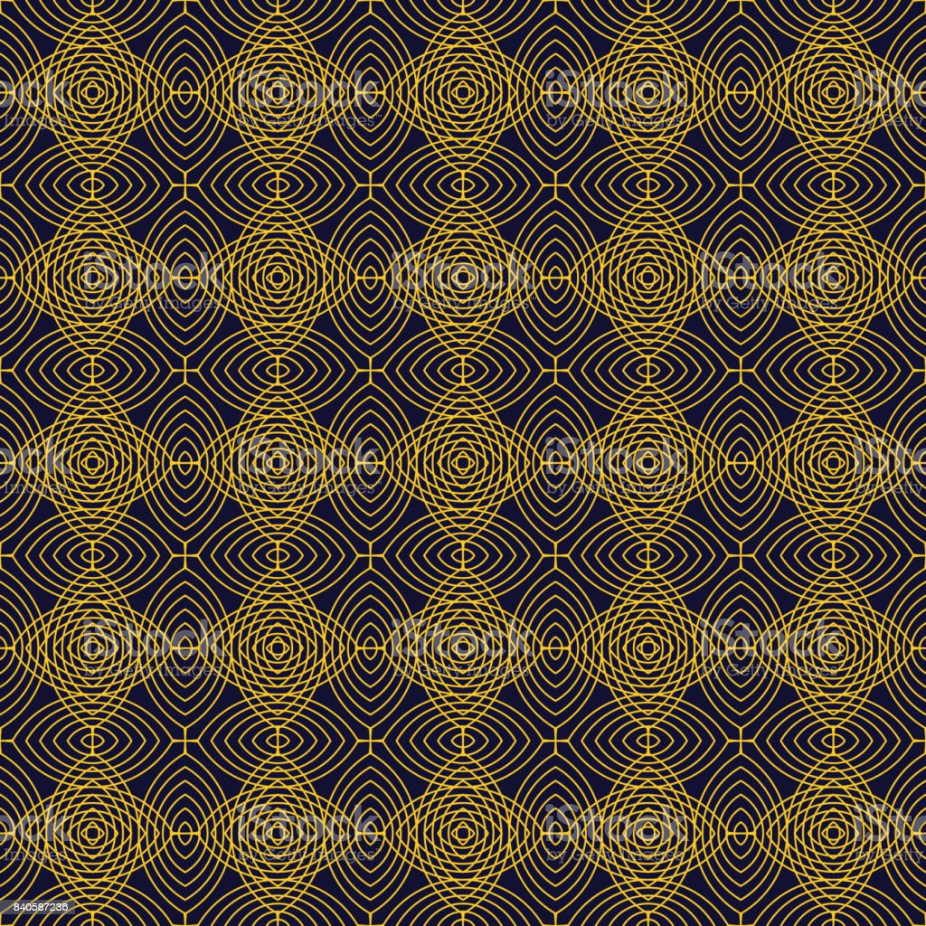 Modern Stylish Gold Texture With Rhombus Or Squares Seamless Tile ...