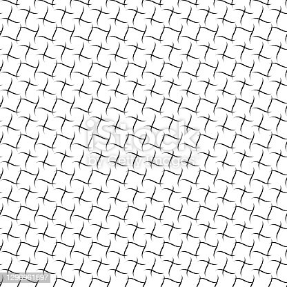 modern stylish texture. vector seamless pattern. black and white repetitive background. wavy grid. fabric swatch. wrapping paper. continuous print. design element for home decor, apparel, textile