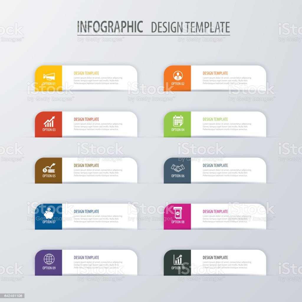 Modern tab index infographic options template with paper sheets. Vector element can be used for web design and workflow layout. vector art illustration