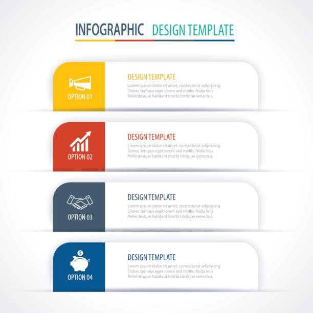 moderne register index infografik optionen vorlage mit papierbögen. vektorelement kann für web-design und workflow-layout verwendet werden. - zeitschrift grafiken stock-grafiken, -clipart, -cartoons und -symbole