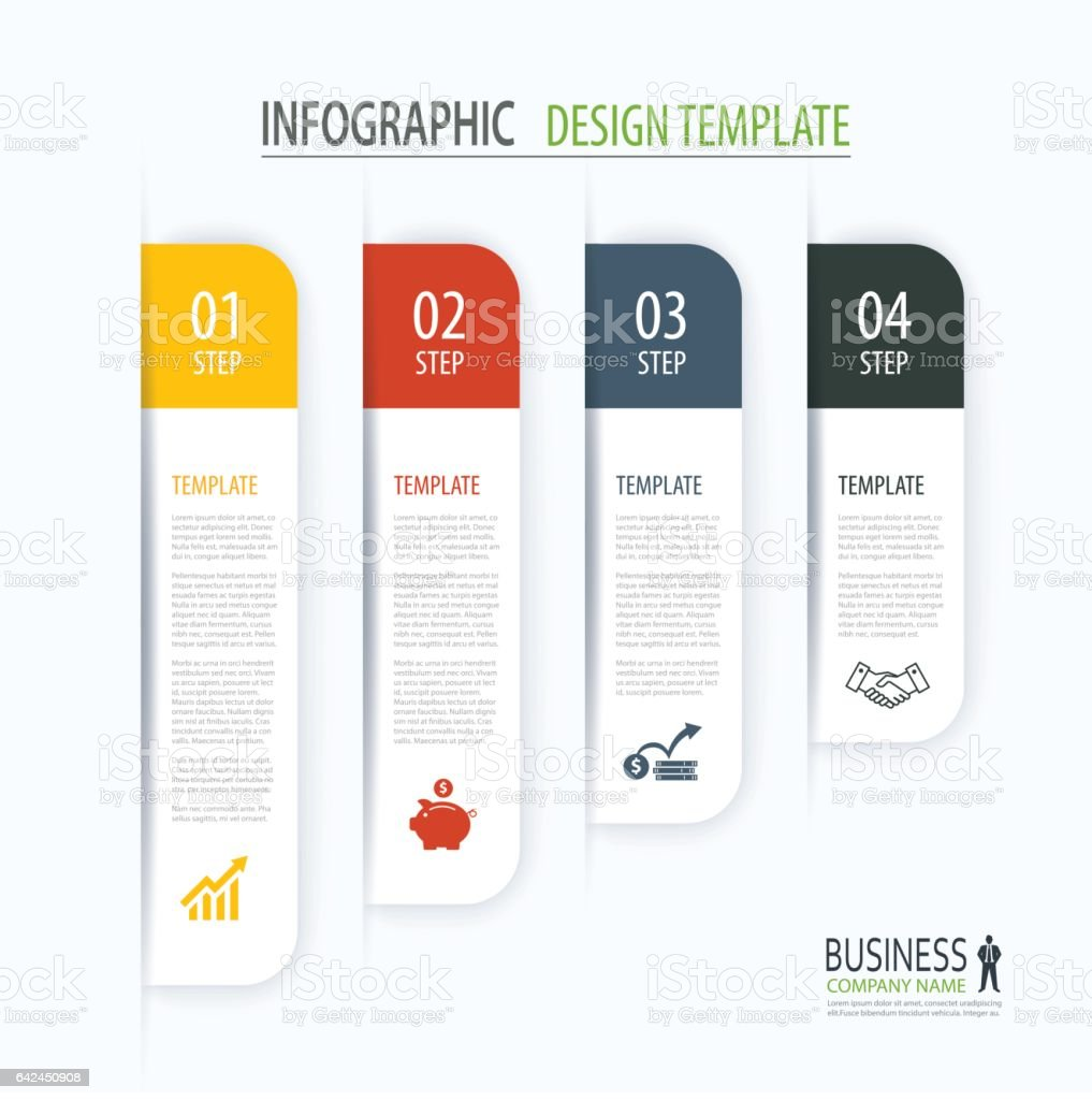 Modern Tab Index Infographic Options Template With Paper Sheets – Paper Design Template
