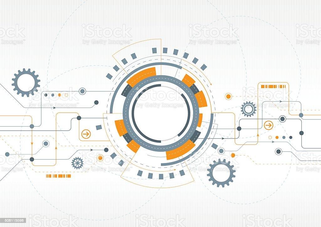 Modern Technical Design vector art illustration