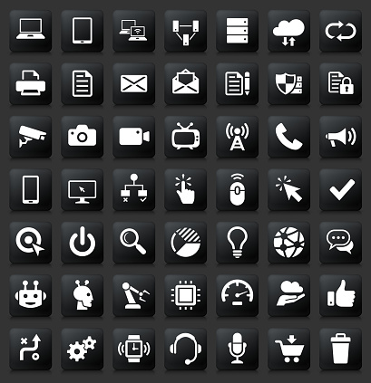 Modern technology icon set