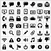 Modern Technology Internet Social Communications royalty free vector interface icons