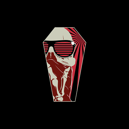 Modern Thug Skull T-shirt Design