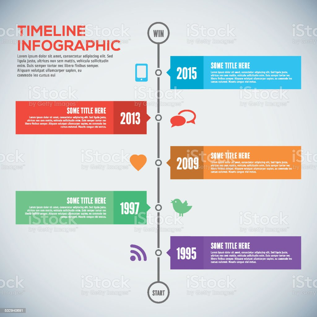 Modern timeline design template. Infographic. Vector design. vector art illustration