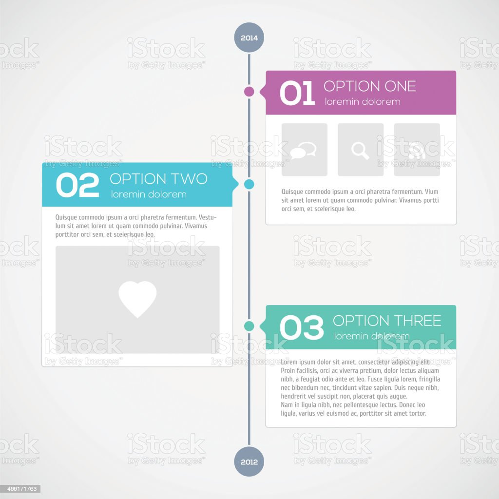 Modern timeline design template vector art illustration