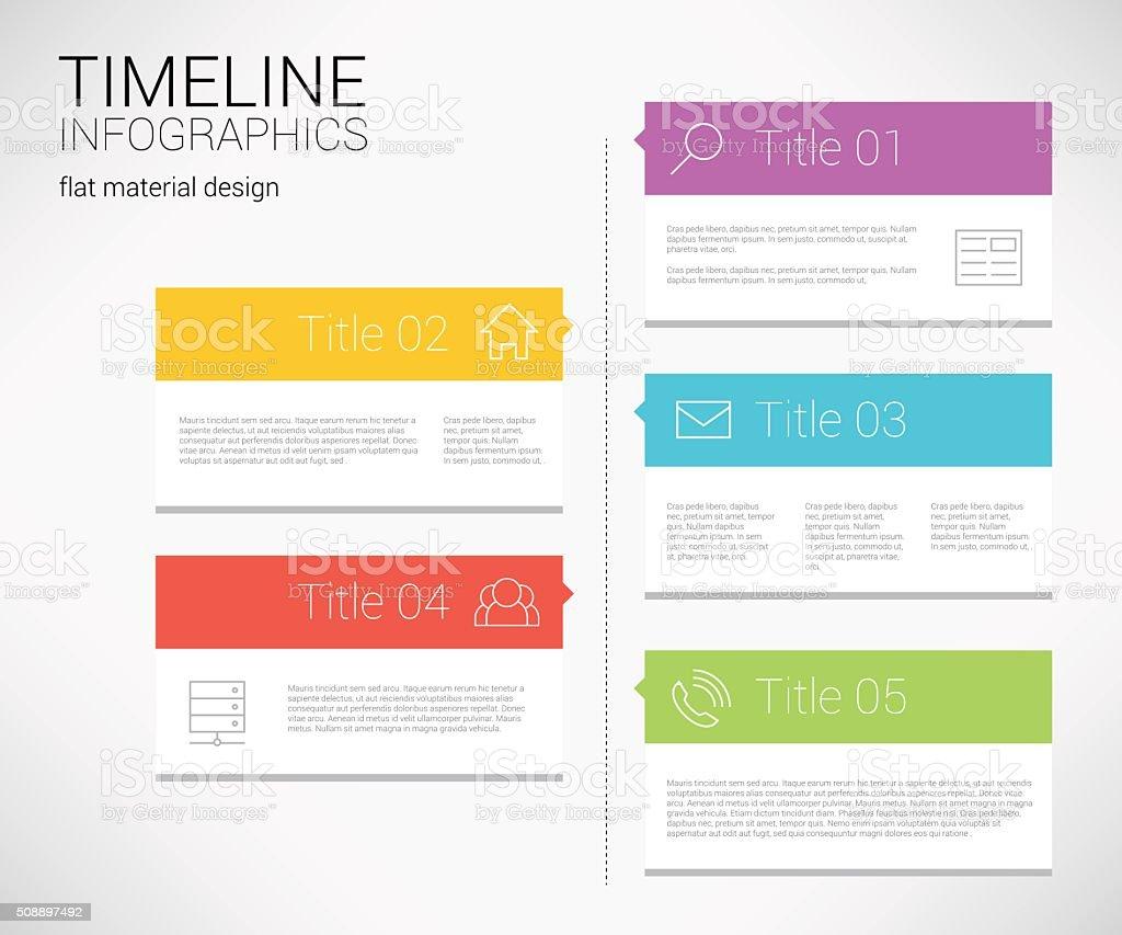 modern timeline design template stock vector art more images of