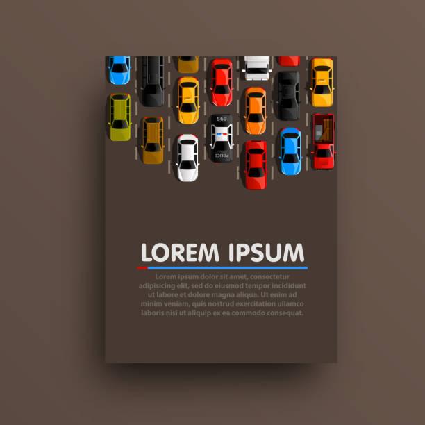 modern transport vertical banners. road flyer set. traffic jam infographics. template design element. - duża grupa obiektów stock illustrations