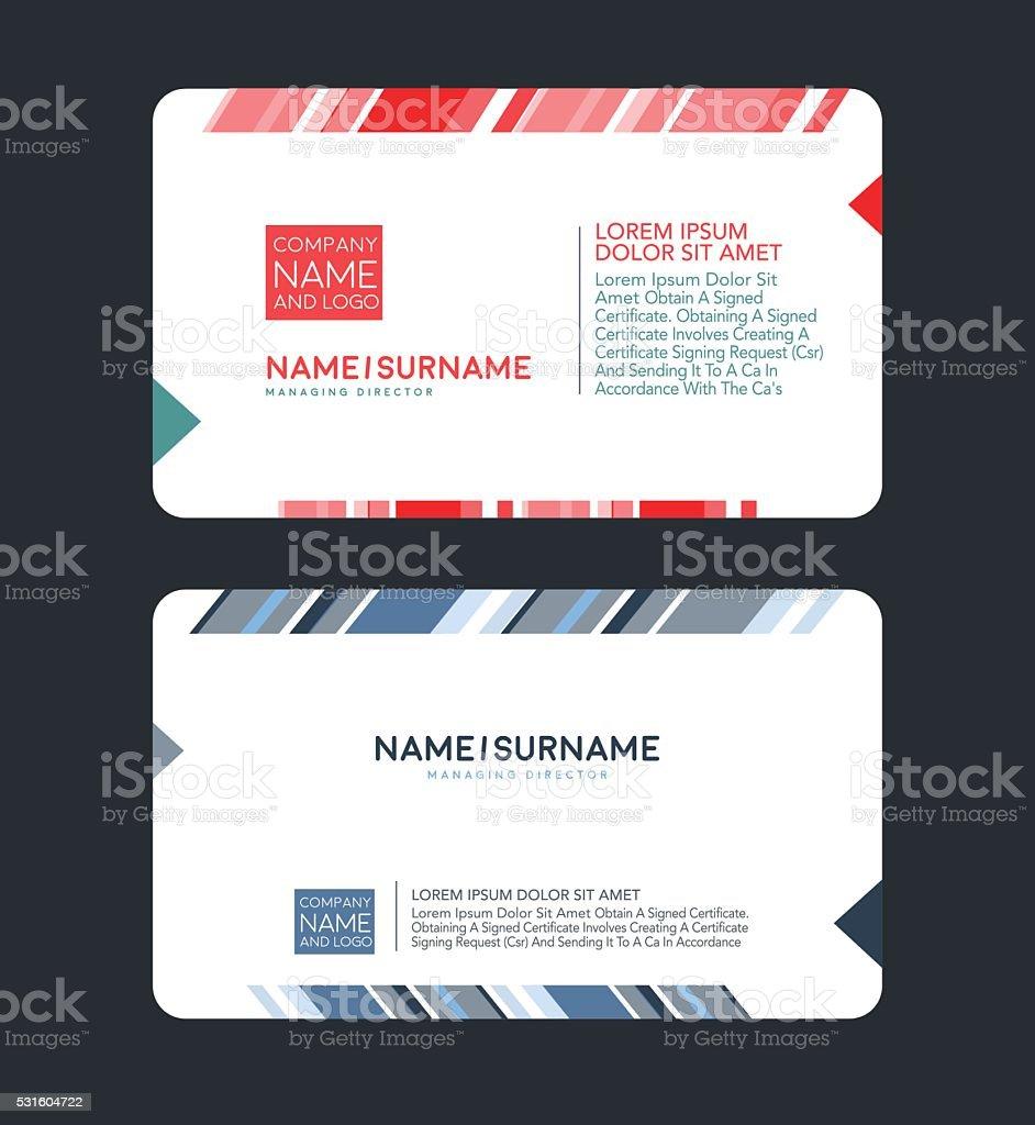 Angesagt Modern Business Card Designvorlage Vektor Illustration ...