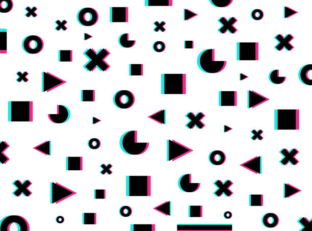 Modern trendy design pattern in distorted glitch style. Good for Cover poster, banner, flyer, placard. Vector illustration. vector art illustration