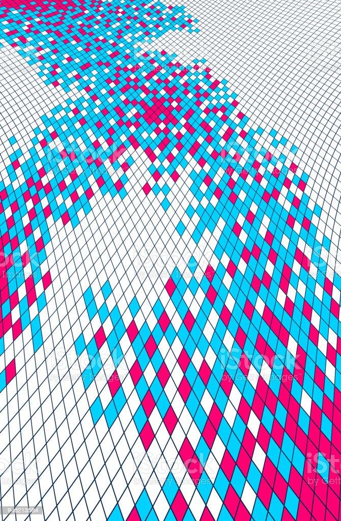 modern trendy vector design of dimensional artistic mosaic tiles