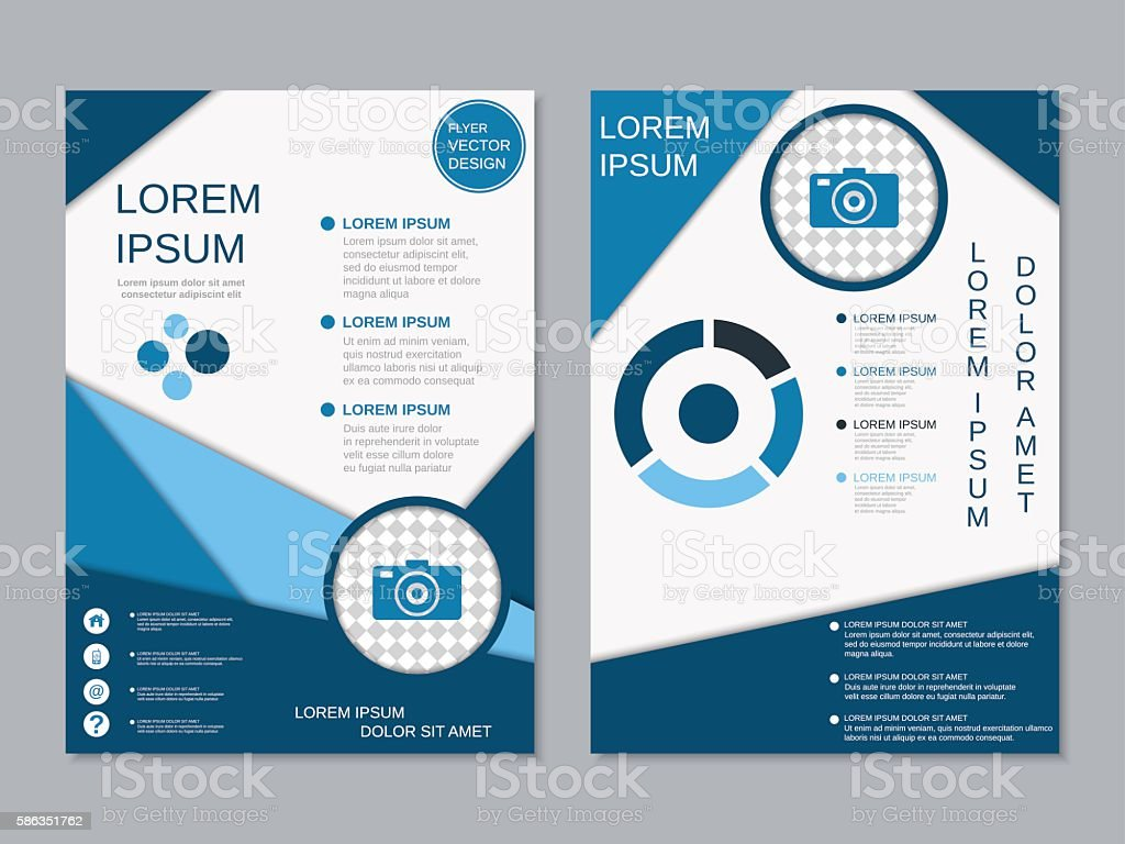 modern twosided professional flyer template stock vector art more