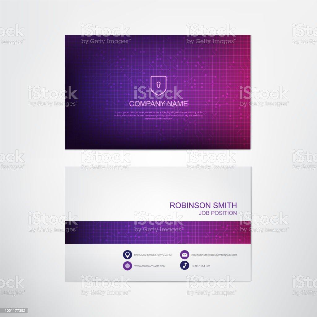Moderne Ultra Violet Visitenkarte Vorlage Kontakt Und Firma