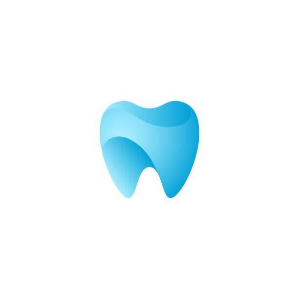 現代独特な歯の歯科健康アイコン - 歯医者のロゴ点のイラスト素材/クリップアート素材/マンガ素材/アイコン素材