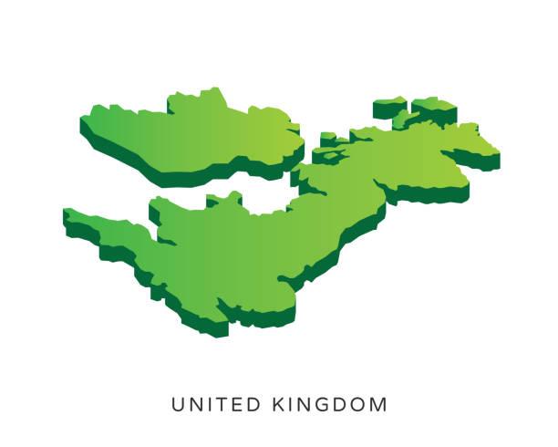 ilustraciones, imágenes clip art, dibujos animados e iconos de stock de ilustración de mapa isométrico 3d país moderno españa - infografías demográficas