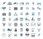 Modern Universal Business Concept Icon Set