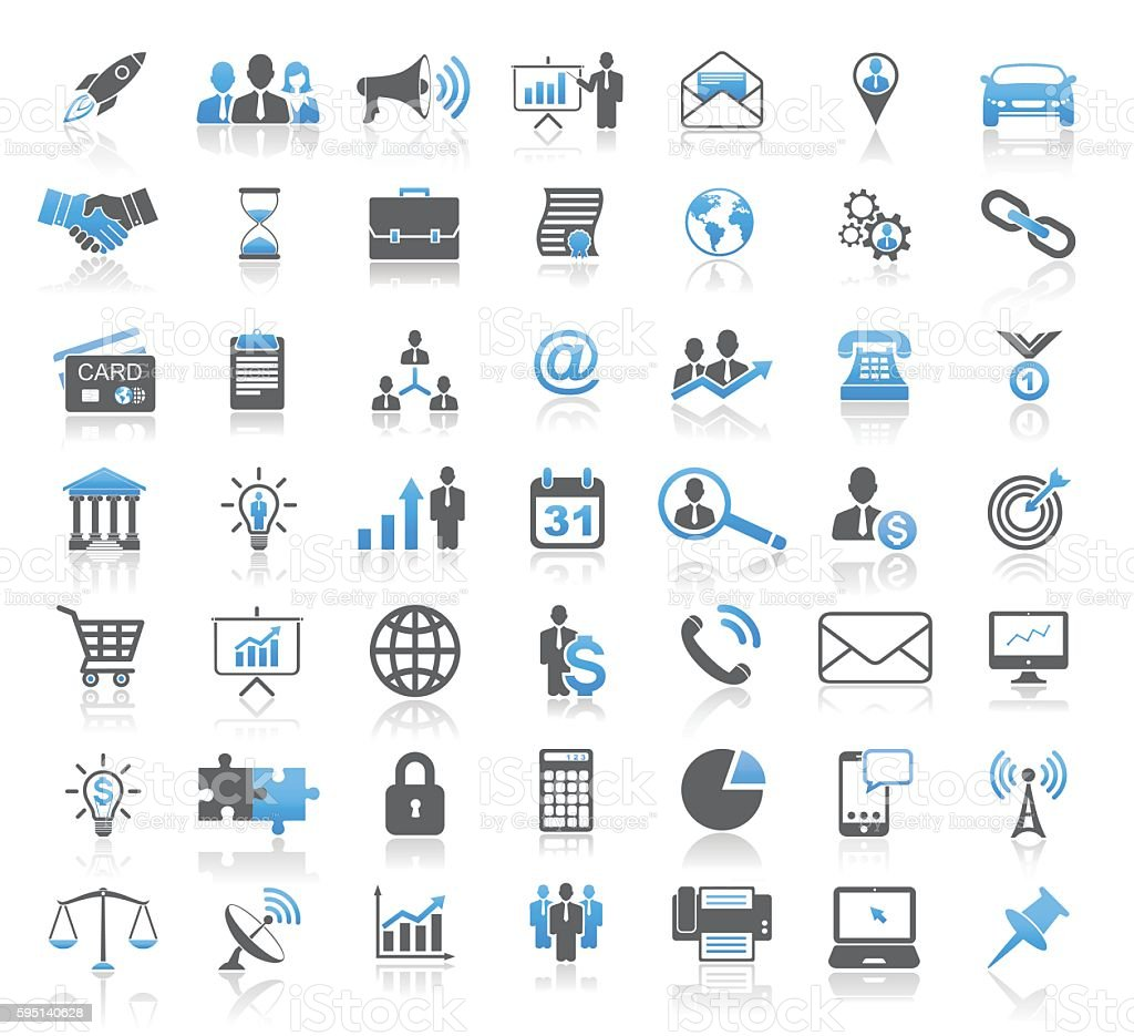 Modern Universal Business Concept Icon Set vector art illustration