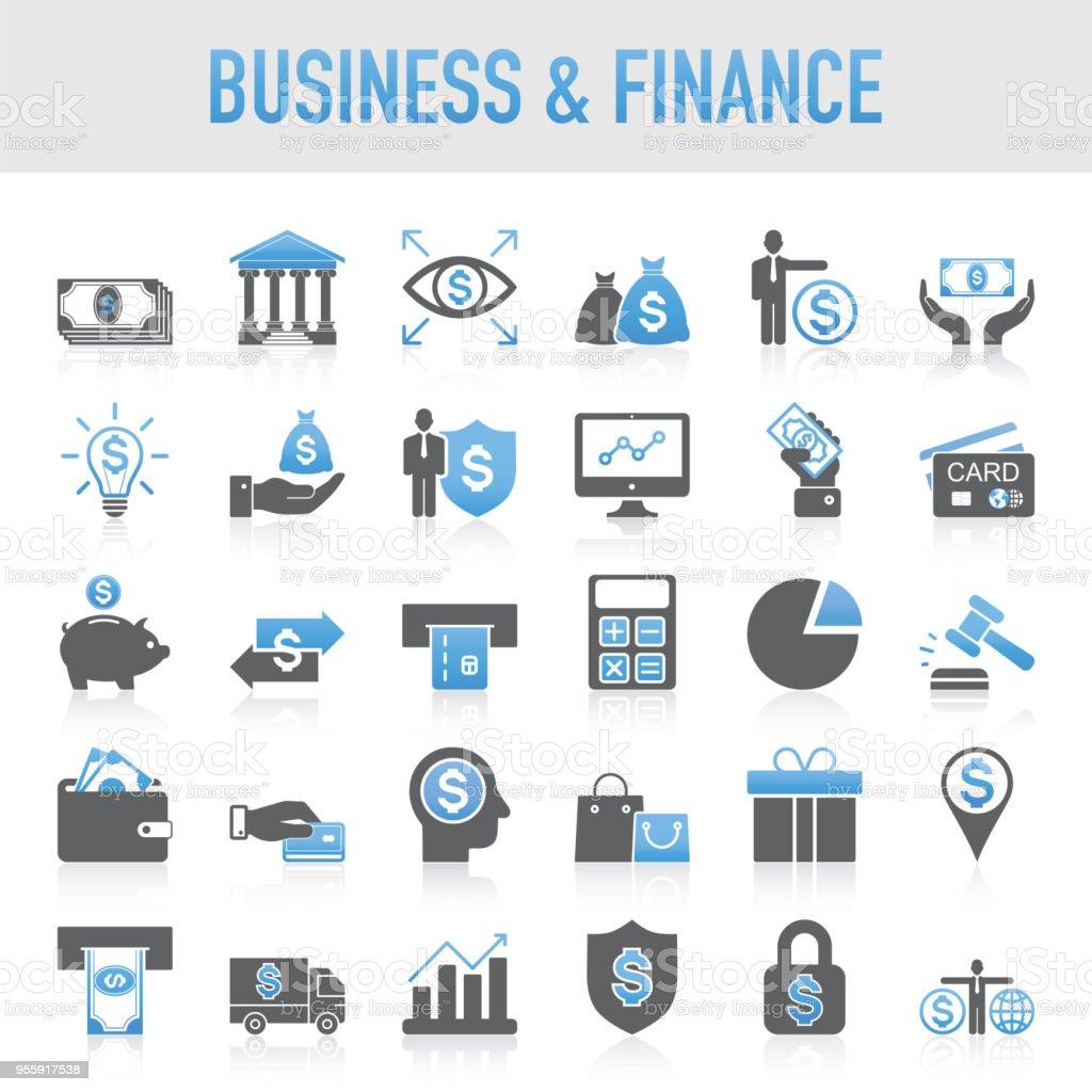 Modern Universal Business & Finance Icon Set royalty-free modern universal business finance icon set stock illustration - download image now