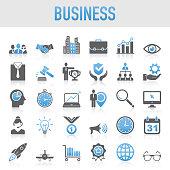 Modern Universal Business Icon Set