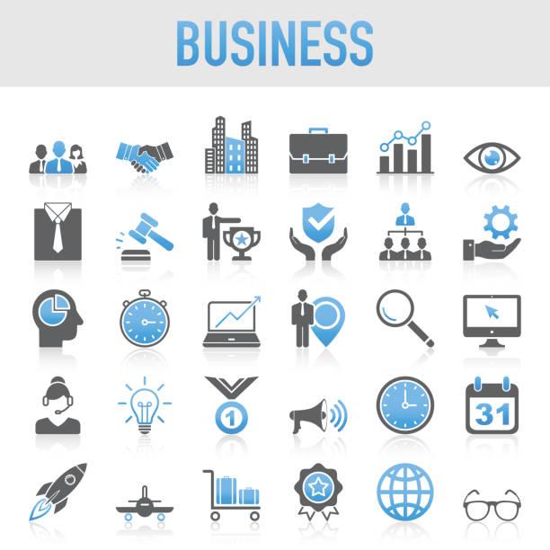 Modern Universal Business Icon Set – artystyczna grafika wektorowa