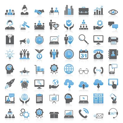 icon set stock illustrations