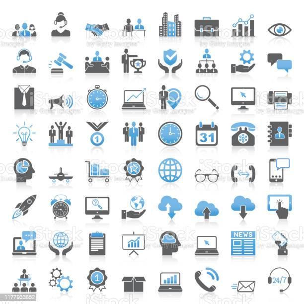 Modern Universal Business Icons Collection - Arte vetorial de stock e mais imagens de Acordo