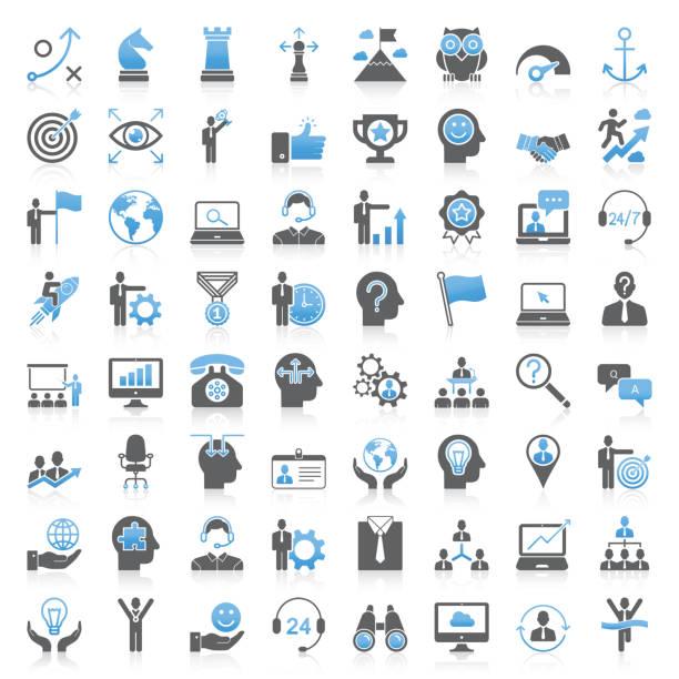 現代のユニバーサルビジネス戦略と経営アイコンコレクション - 会社点のイラスト素材/クリップアート素材/マンガ素材/アイコン素材
