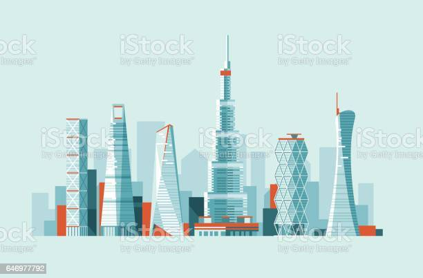 Modern urban landscape buildings and skyscrapers of different height vector id646977792?b=1&k=6&m=646977792&s=612x612&h=erg8qegpdgmxo9lkltuvm8ffzhjgrq1cuwsz2on81gk=