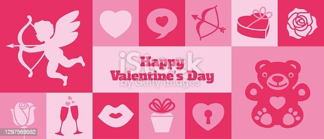 Modern Valentine's Day banner - v1