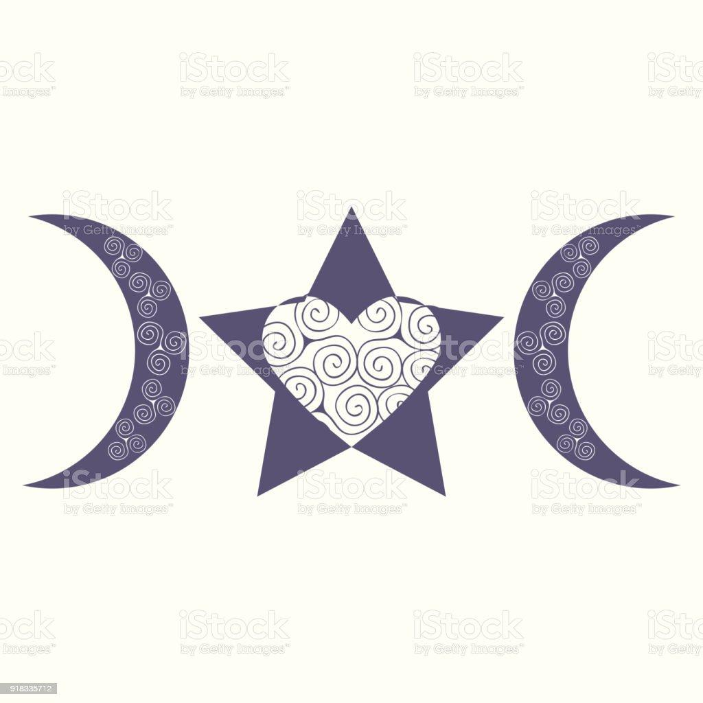 Modern Variant Of The Spiral Triple Goddess Symbol Vector