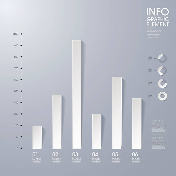 Modern vector abstract bar chart in shades of gray modern vector abstract bar chart infographic elements.can be used for workflow layout, diagram, number options, web design.  illustration ,EPS10 bar graph stock illustrations
