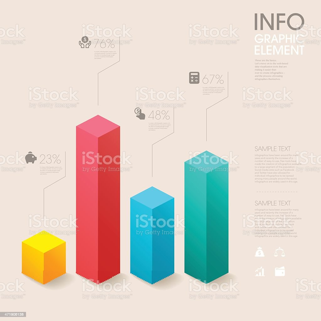 modern vector abstract bar chart infographic elements. vector art illustration