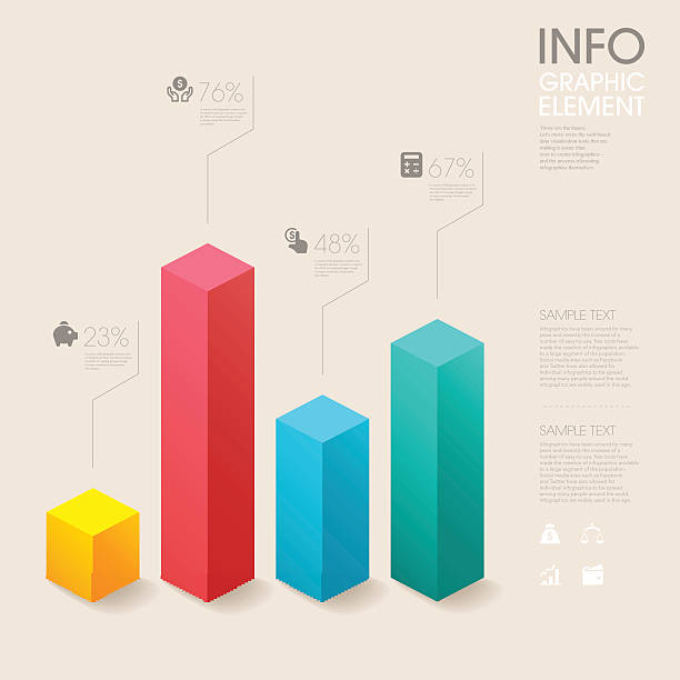 modern vector abstract bar chart infographic elements. modern vector abstract bar chart infographic elements.can be used for workflow layout, diagram, number options, web design.  illustration ,EPS10 bar graph stock illustrations