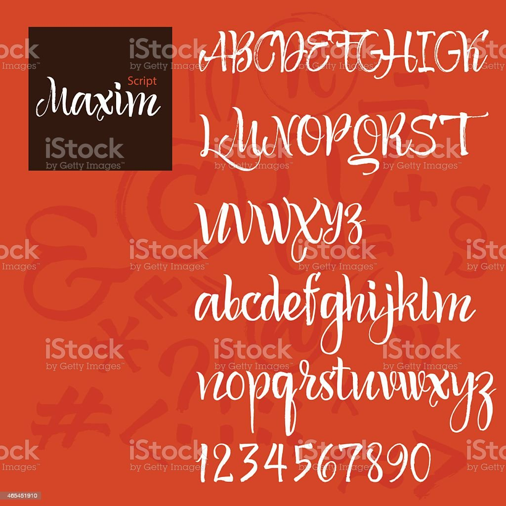 Modern Vector Alphabet vector art illustration